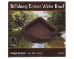 URS BILLABONG CORNER BOWL BROWN 250X235X85MM 1.35LITRE - LARGE