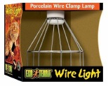 EXO TERRA PORCELAIN WIRE CLAMP LAMP - SMALL
