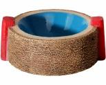 AQUA ONE HERMIT CRAB ROUND BOWL BLUE 6X7.5X3CM