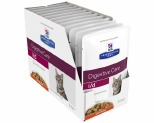 HILL'S PRESCRIPTION DIET I/D DIGESTIVE CARE WET CAT FOOD WITH CHICKEN  ADULT POUCHES 12X85G