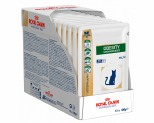 ROYAL CANIN VETERINARY DIET CAT OBESITY MANAGEMENT POUCHES 100G (X12)