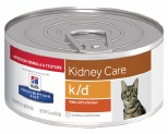 HILLS PRESCRIPTION DIET K/D KIDNEY CARE PATE WITH CHICKEN CANNED CAT FOOD 156G
