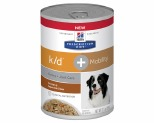 HILL'S PRESCRIPTION DIET K/D KIDNEY CARE + MOBILITY WET DOG FOOD CHICKEN & VEGETABLE STEW CAN 354G**