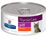 HILL'S PRESCRIPTION DIET Y/D THYROID CARE WET CAT FOOD WITH CHICKEN 156G
