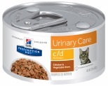 HILL'S PRESCRIPTION DIET C/D MULTICARE URINARY CARE WET CAT FOOD CHICKEN & VEGETABLE STEW CAN 82G