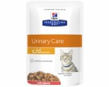 HILL'S PRESCRIPTION DIET C/D  URINARY CARE SALMON FELINE WET POUCH 85G