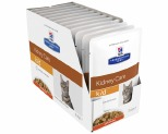HILL'S PRESCRIPTION DIET K/D  KIDNEY CARE CHICKEN FELINE WET POUCH 12X85G