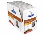 HILL'S PRESCRIPTION DIET K/D  KIDNEY CARE SALMON FELINE WET POUCH 12X85G