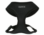 PUPPIA SOFT HARNESS BLACK MEDIUM