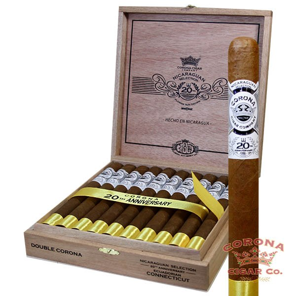 Image of Corona Nicaraguan 20th Anniversary FSG Connecticut Double Corona Cigars