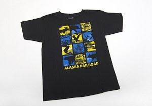 T-Shirt/C/Blue/Gold Block/L