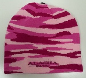 Hat/Adult/Knit/Pink Camo