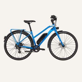 City E-Bike Step-Thru Blue