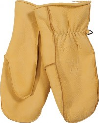 Deerskin Leather Work Mitten L