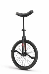 """Unicycle 16"""" Black w/ Red"""