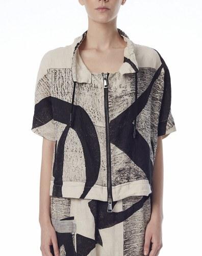Crea Concept Abstract Zip Jacket