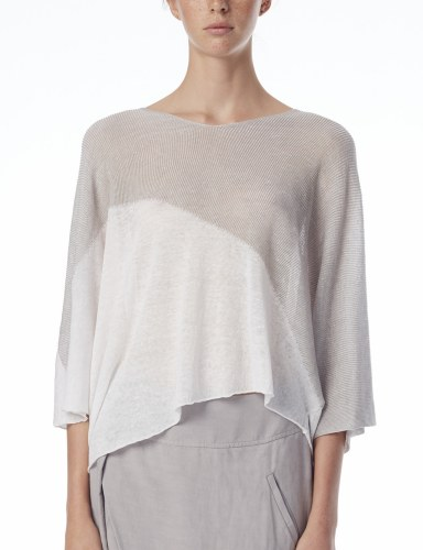 Crea Concept Two Tone Knit Top