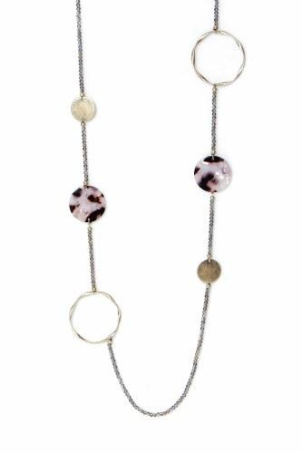 Envy Jewellery Tortoiseshell Circle Necklace