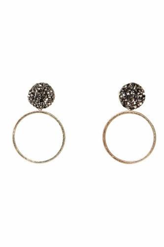 Envy Jewellery Diamante Hoop Earrings