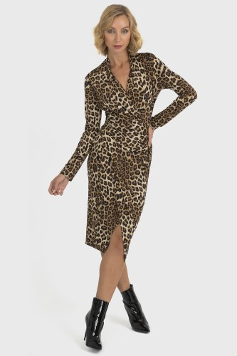 Joseph Ribkoff Animal Print Wrap Dress (193551)