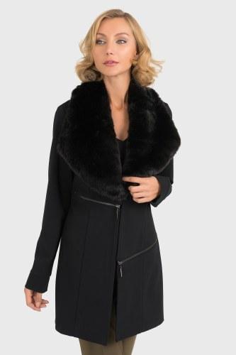 Joseph Ribkoff Removable Fur Collar Jacket (193727)