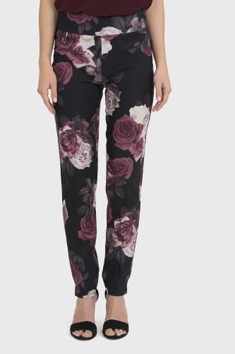 Joseph Ribkoff Rose Print Trousers