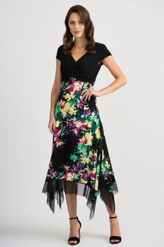Joseph Ribkoff Short Sleeve Maxi Dress (201134)