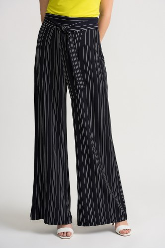 Joseph Ribkoff Stripe Tie Belt Trousers (202024)