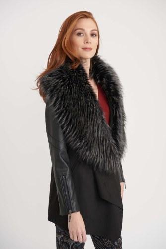 Joseph Ribkoff Fur Trim Coat
