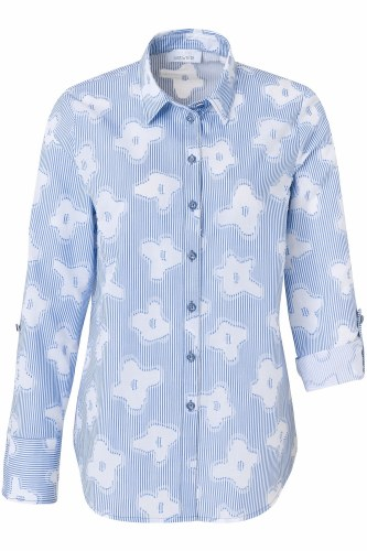 Just White Floral Shirt