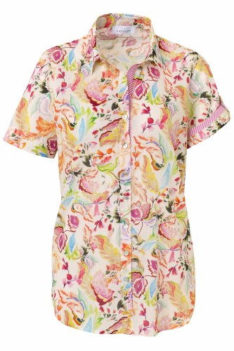Just White Floral Blouse
