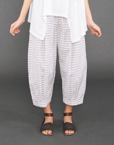Mama b. Bianco Gingham Trousers