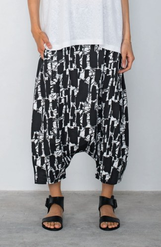 Mama b. Botte Print Harem Trousers