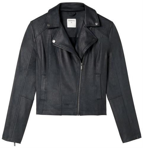 Sandwich Faux Leather Biker Jacket
