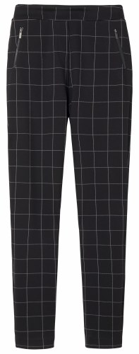 Sandwich Jersey Checked Trousers