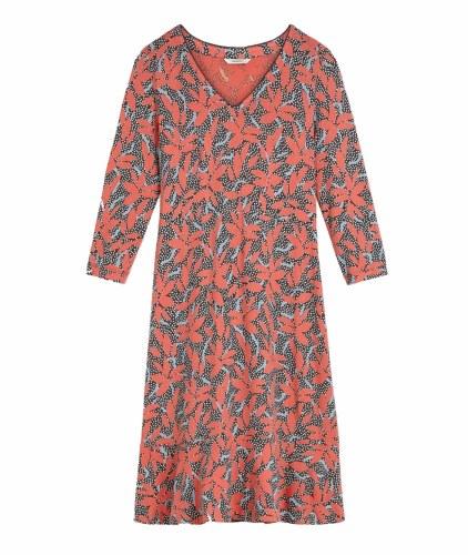 Sandwich Leaf Flare Dress