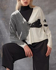 Crea Concept Gingham Pin Cardigan