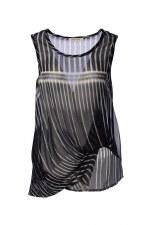 Crea Concept Print Chiffon Vest