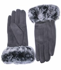 Envy Jewellery Faux Fur Trim Gloves