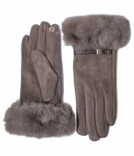 Envy Jewellery Faux Fur Detail Gloves