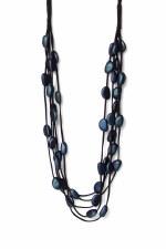 Envy Multi Fabric Strand Necklace