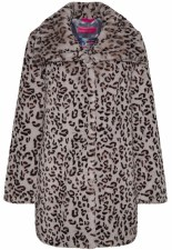 Frieda & Freddies Animal Faux Fur Coat (7738)