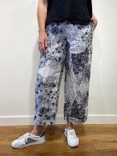 Grizas Print Linen Trousers