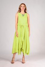 Grizas Belted Linen Dress