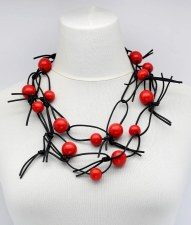 Jianhui Leatherette Chain Necklace