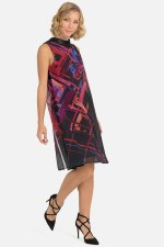 Joseph Ribkoff Chiffon Printed Dress (193568)