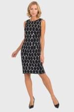 Joseph Ribkoff Sequin Grid Dress (193796X)