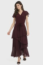 Joseph Ribkoff Chiffon Layered Dress