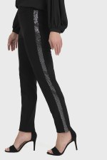 Joseph Ribkoff Sparkly Side Band Trousers