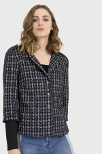 Joseph Ribkoff Checked Textured Jacket
